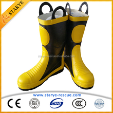 Metal Toes Shoe Insulating Waterproof Fire Fighter's boots Fire Boots