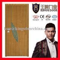 MDF PVC diamond glass doors for toliet