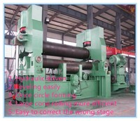 W11S-20x2500 3 rollers hydraulic sheet Plate steel metal Rolling bending Machine with pre-bending and cone bending