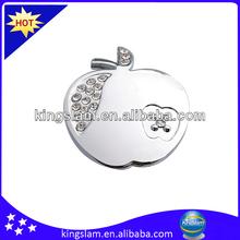 Apple shape zinc crystal knob for furniture hardware KH8683K