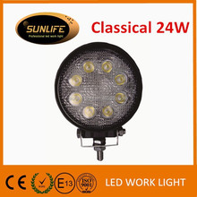 Hot selling LED off road work lights for trucks, 10-30v 8x3w LEDs car accessories LED work lights, IP68 truck LED head light