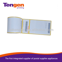 Glossy laminated three layer direct thermal paper sticker label