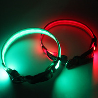 Custom led dog collar good quality no minimum order cheap price factory directly sale