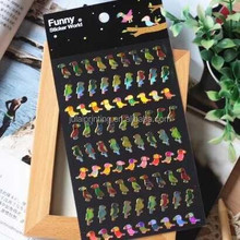 Funny Bird Sticker World Custom 3D Kawaii Epoxy Sticker