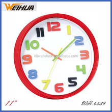 Round colorful 3d wall clock