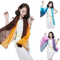 a456 neckwear multicolor silk chiffon muslim hijab shwal scarf chiffon wholesale