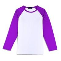 200g 65% Cotton 35% Polyester Long Sleeve , Wholesale Raglan Sleeve T-shirt , Custom Tshirt Printing , LOW MOQ Mix Order