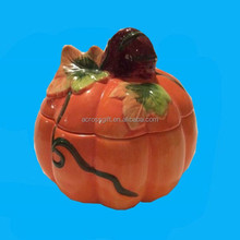 Thanksgiving halloween Ceramic Pumpkin Candy Dish decoration