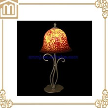 flower glass table lamp for study