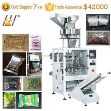 Peanut, cashew nut packing machine. Snacks VFFS packaging machine. Automatical grain fill seal packing machine. DCTWB-420Z