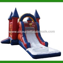 China Guangzhou pop outdoor castle bouncer with slide and pool