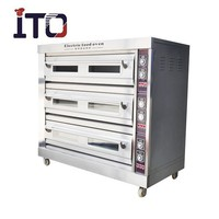 BHM-9D Discount Large Capacity Electric Pizza Pie Cake Oven with 3 layer 9 trays