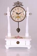 Solid Wood Vintage promotional table clock wood pendulum clock