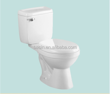 YJ8013 Two-piece water saving toilet eye-catching design ceramic wc set on sale