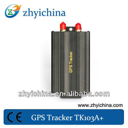 Dual fuel sensor/ dual sim card/ centre locking for gps vehicle tracker TK-103A+ easy install with standard antenna