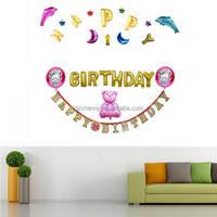 Birthday Party Balloon Bear girl Baby Favor Decoration Accessorys Wall Decor Aluminium Balloons Setting