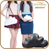 Black and White Genuine Leather Special Cloud Shape Shouder Satchel Bag Clutch