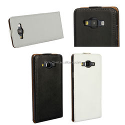 Best Quality Genuine Leather Korean Flip Case for Samsung Galaxy A7, For Galaxy A7 Case