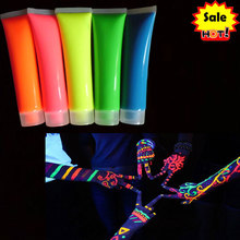 UV NEON FACE PAINT glow face and body paint party face and body paint