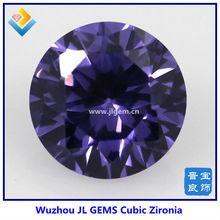 round amethyst zircon