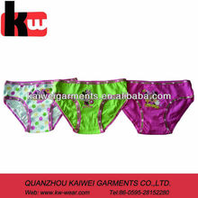 Environmental product OEM different types of girls underwear