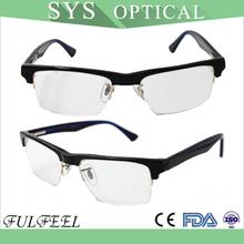 buena venta marco medio de acetato de gafas clásicas de mujeres y hombres