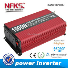 1000w DC 12v TO AC 220v pure sine wave power inverter wave WITH USB