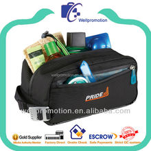 Wellpromotion high quality full imprint 1680D toiletry bag for Men