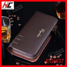 New Sale mens leather wallets 2015 fashion handbags Double zipper phone case with coin pocket