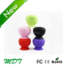 Mushroom Mini Wireless Bluetooth Speaker Waterproof Silicone Sucker Hands Free Speakers For App-Phone/Samsung/Lg/Android phone
