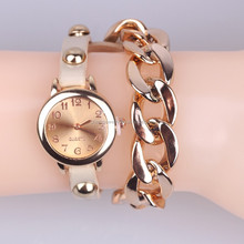 latest Vogue Casual / Quartz Bracelet Leather / Analog Gold Chain watch for women BWL036