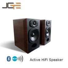 Wooden Active HiFi Wireless Speaker Cabinet Bookshelf Bluetooth WiFi Speaker
