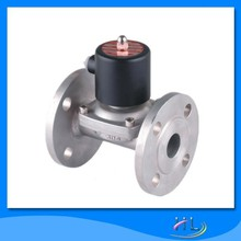 Double flanged stainless steel solenoid valve 220V AC
