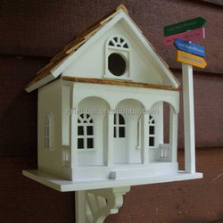 Custom cool wooden bird house, outdoor painted colour wood birdhouse
