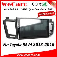 Wecaro Android 4.4.4 car multimedia system in dash autoradio for toyota rav4 1080p GPS 2013 - 2015