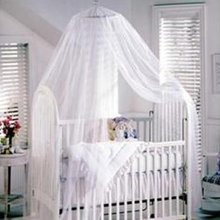Baby Mosquito Net Baby Toddler Bed Crib Canopy Netting White Color (2.2M*5.5M)