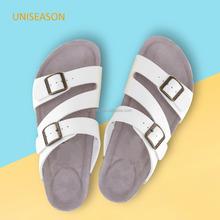 New design 2015 comfortable fashion white upper birkenstock women