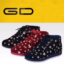 new types leisure casual nice quality woman fashion cotton fabric pretty sneakers