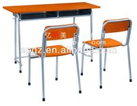 Modern Design Double Camping Chair School Furniture Desk and Chair Double Desk & Chair