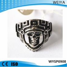 2015 fashion custom made casting gothic skull ring