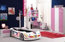 Foshan New Design Adult Sized 3D Racing Car Bed Children Cartoon Bed Kids Single Bed