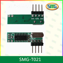 High sensibility wireless learning code RF receiver module,with single chip decoder