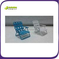 Metal cute Miniature garden beach chair for your garden