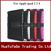 2 in 1 TPU&PC Kickstand Combo phone cases cover for Apple ipad 2 3 4