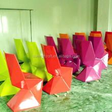 Custom colorful modern fiberglass furniture chair