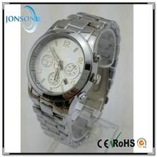 2015 hotsale vogue japan movt platinum geneva watch japan movt water resistant