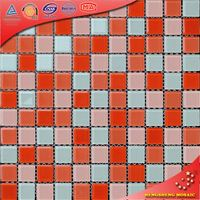 H2015 wallpaper with crystals swimming pool border tile glass mix stone mosaic tile