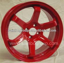 5 hole rays volk te37 replica alloy wheel