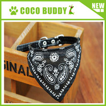 Wholesale braided leather dog collar triangle scarf puppy & cat neck collar 1.0cm width