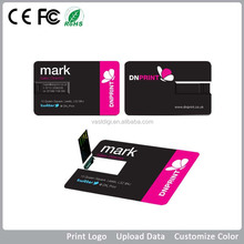 convenient name card usb flash drive excellent for gift/souvenir full color print